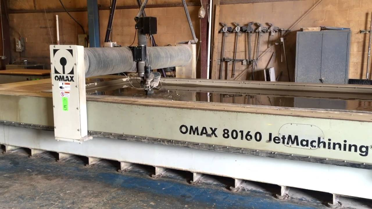 OMAX 80160 BRIDGE TYPE CNC WATERJET CUTTING SYSTEM