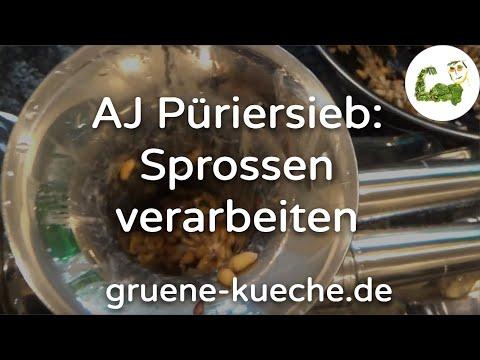 Angel Juicer Püriersieb / Mahlsieb - Verarbeitung gekeimter Sprossen zu Brei (Teil 2/2)