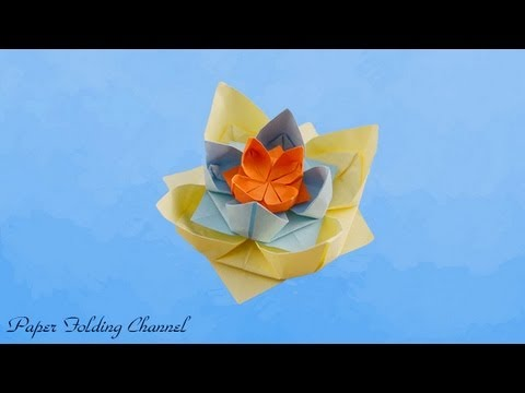 Origami Traditional Lotus Folding Instructions - Origami Waterlily | 360x480