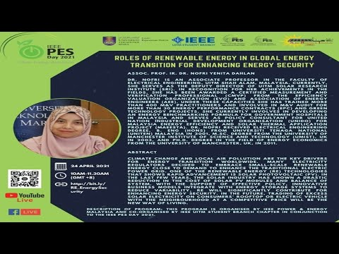 Roles of Renewable Energy in Global Energy Transition for Enhancing Energy Security