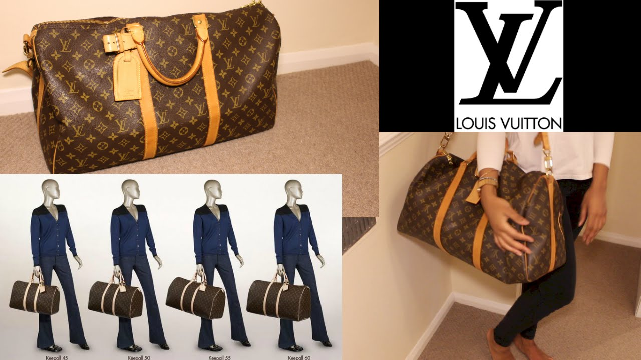 8cae66abc77f LOUIS VUITTON KEEPALL bandoulière 50 REVIEW - YouTube