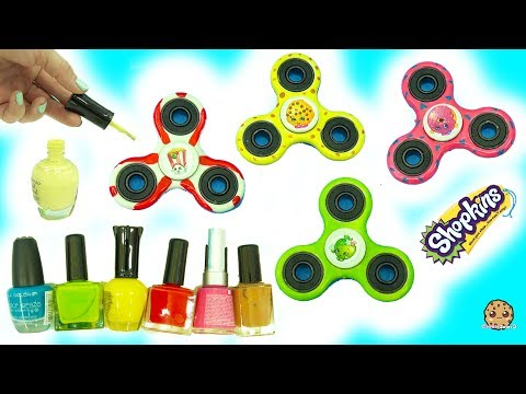Thumbnail: DIY Nail Polish Painted Shopkins Inspired Fidget Spinners - Do It Yourself Craft Video