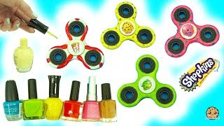DIY Nail Polish Painted Shopkins Inspired Fidget Spinners - Do It Yourself Craft Video thumbnail