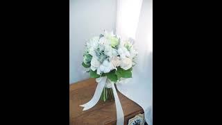 如何做新娘手捧花?How to made a Wedding Bouquet?