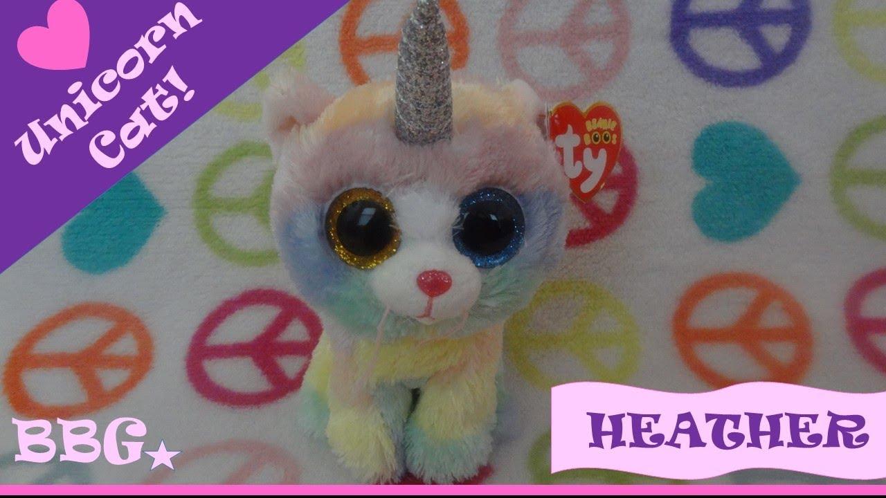 Heather the Unicorn Cat~Beanie Boo  167 - YouTube 123b434101a
