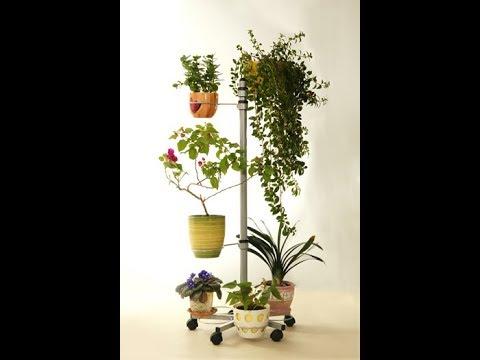 Передвижная напольная подставка для цветов Ева