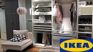 Ikea Closets Wardrobes Furniture   Shop With Me Shopping Store Walk Through 4k