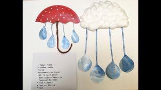 video thumbnail: DIY Rain Cloud/Umbrella Craft