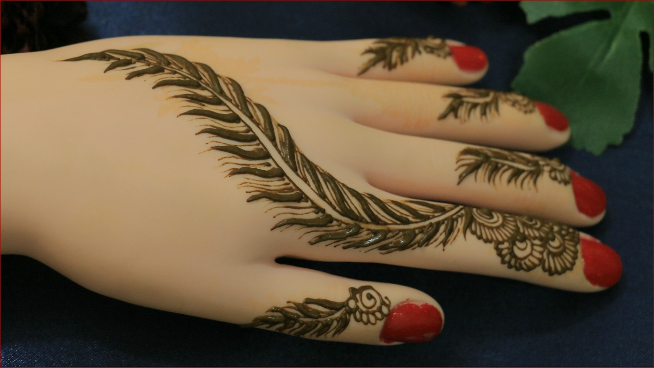 Pankhuri Design Mehndi For Hands:Easy Simple Unique