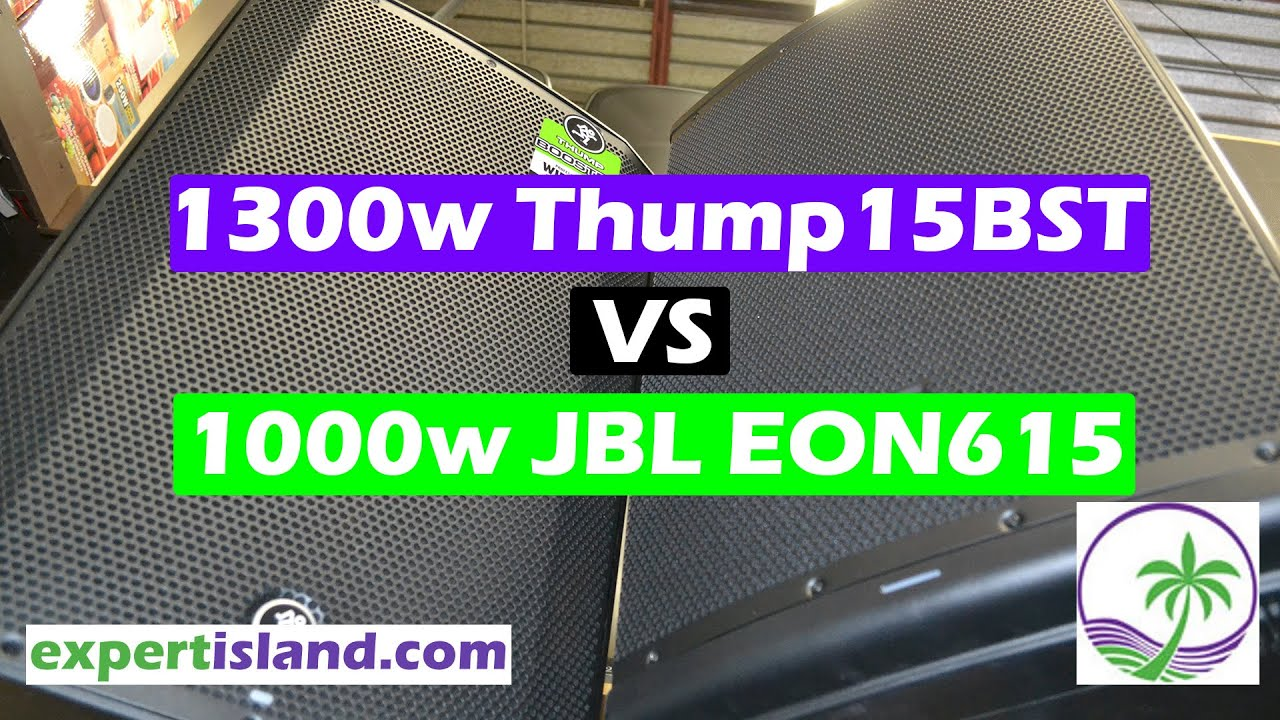 Sound Test Mackie Thump 15BST vs JBL EON615 - It's all about The App 15