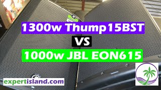 """Sound Test Mackie Thump 15BST vs JBL EON615 - It's all about The App 15"""" Bluetooth Power Speakers"""
