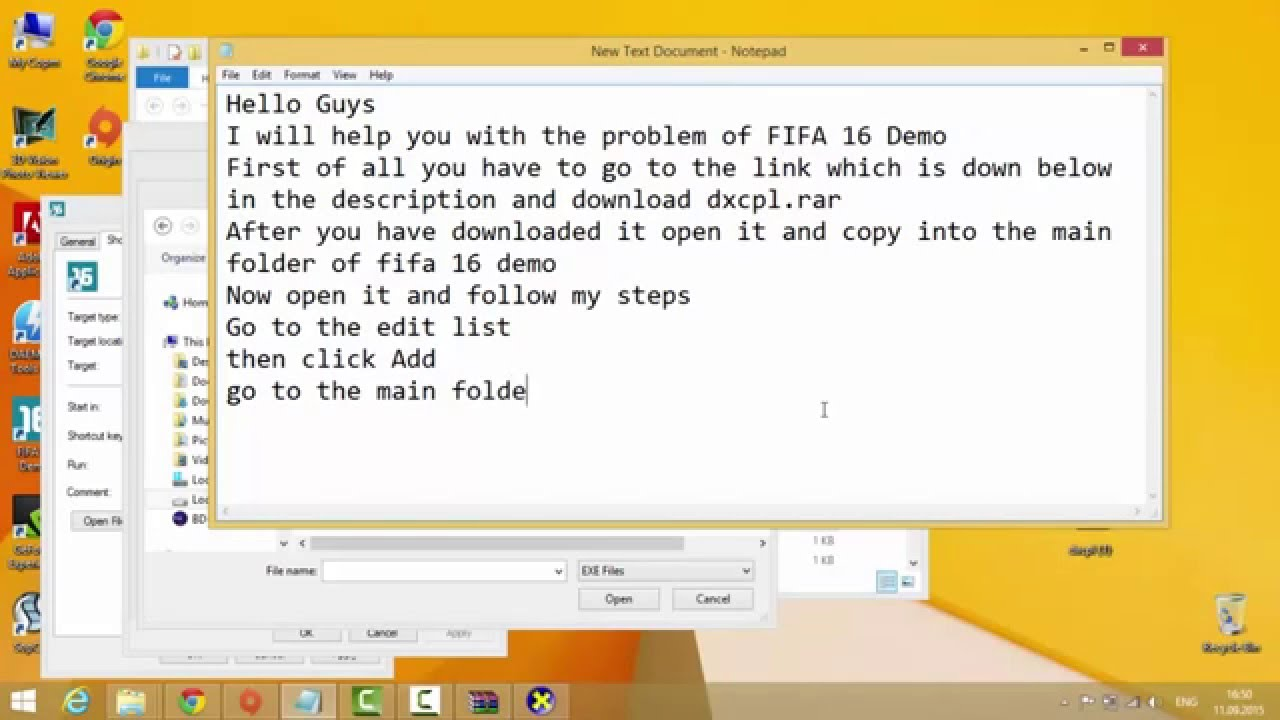 FIFA 17 DEMO PROBLEM FIX (It works on 15/16 and will work on FIFA 17 DEMO  TOO)