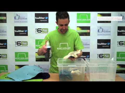 How to wash and care for goalkeeper gloves
