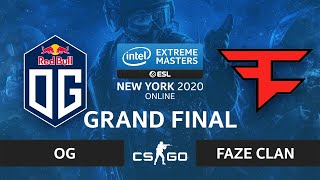 CS:GO - FaZe Clan vs. OG [Inferno] Map 2 - IEM New York 2020 - Grand Final - EU