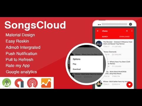 SongsCloud - listen and download MP3 (android full source code)