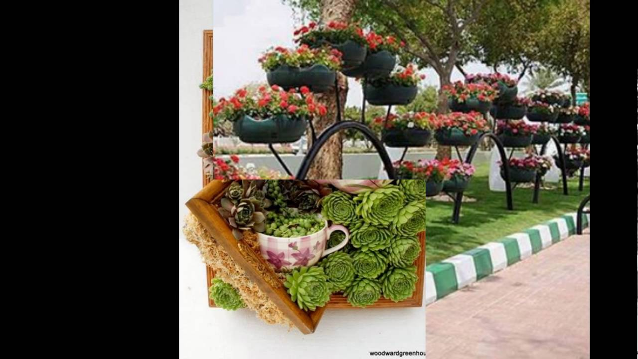 Originales ideas para decorar tu jardin youtube for Jardines originales