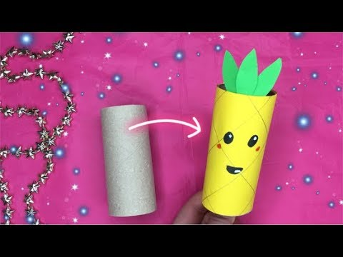 ♡  #DIY KNUTSELEN: ANANAS KNUTSELEN MET PAPIER & WC ROL  ♡ DIY: TOILET ROLL CRAFT PINEAPPLE