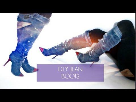 11d38486da6df D.I.Y KIM KARDASHIAN JEAN BOOTS - YouTube