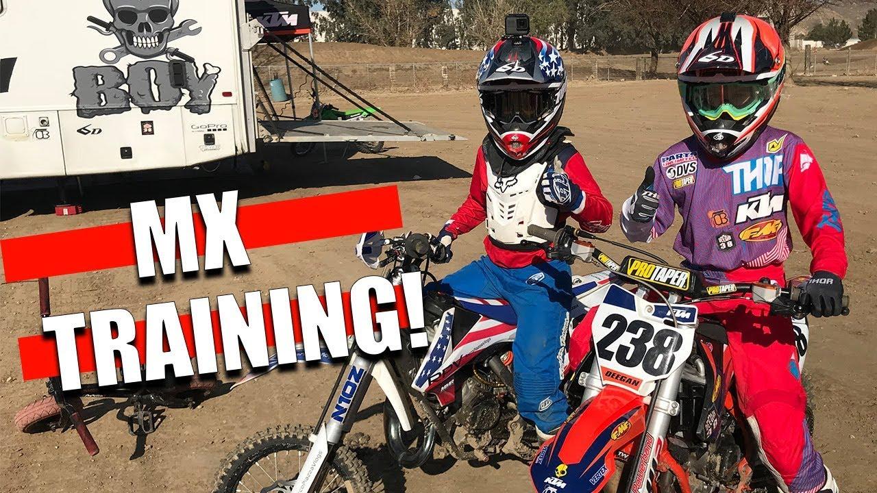 Training Mx With Dangerboy Haiden Deegan Youtube