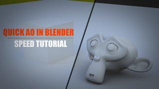 Blender AO oluşturmak için en kolay yolu - Hızlı Öğretici