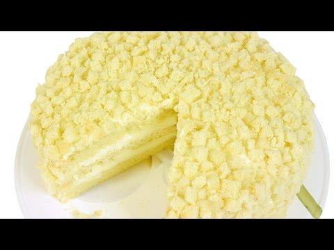 Торт Мимоза. Пошаговый видео рецепт популярного итальянского торта.