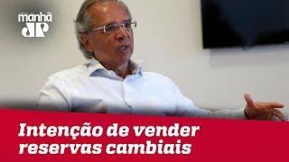 Paulo Guedes nega intenção do governo Bolsonaro de vender reservas cambiais