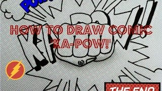 Learn how to draw comic sign (ka-pow!)