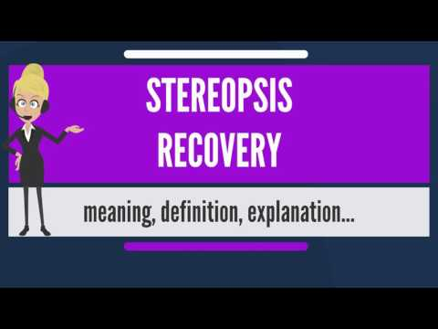 What is STEREOPSIS RECOVERY? What does STEREOPSIS RECOVERY mean? STEREOPSIS RECOVERY meaning