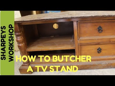 Tv stand cabinet recycled furniture
