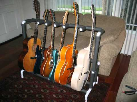 Pvc Guitar Stand For Six Guitars Youtube
