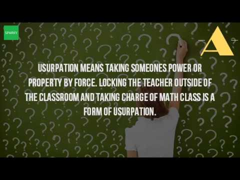 What Is Usurpation?