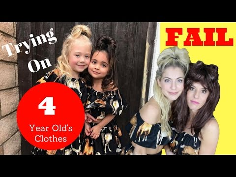 Trying on 4 Year Old's Clothing! ForeverandForava with Rebecca Zamolo