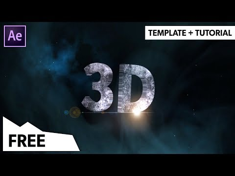 (FREE) EPIC 3D Text Reveal Animation - After Effects Template (NO PLUGINS) | Template + Tutorial