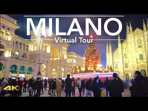 Milano Christmas walk tour 2020 from San babila to center
