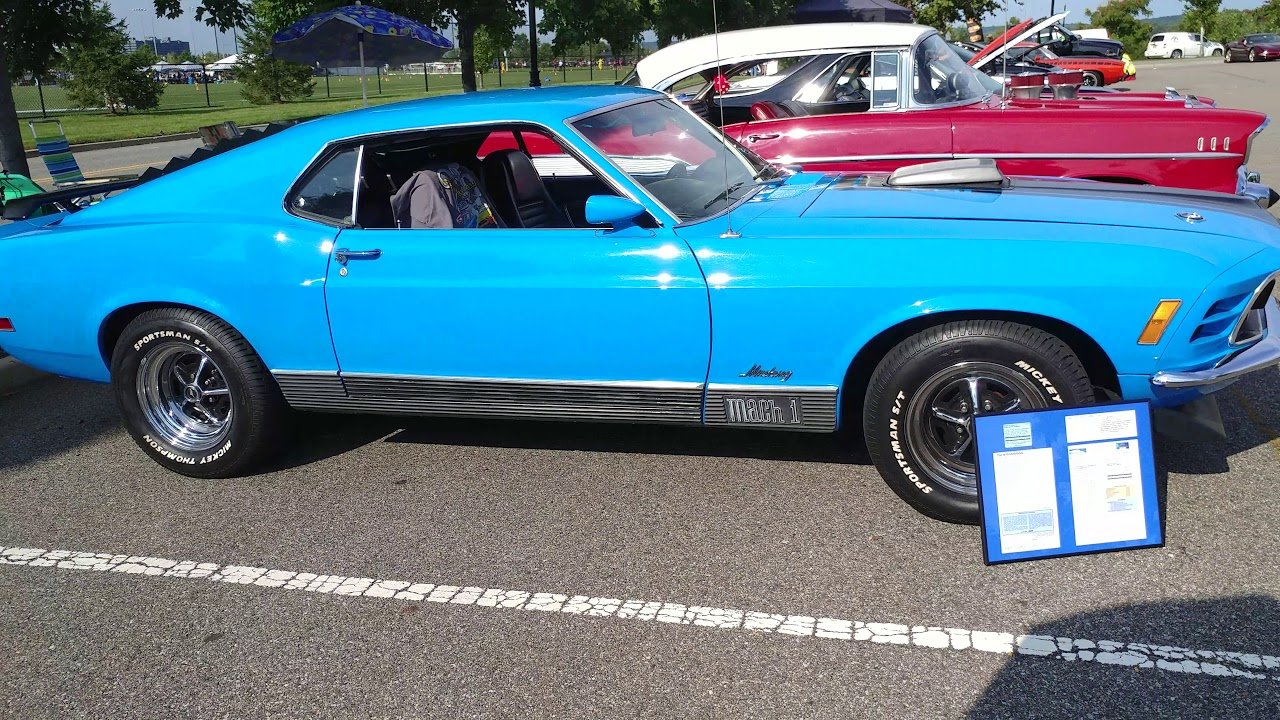 1970 grabber blue ford mustang mach 1