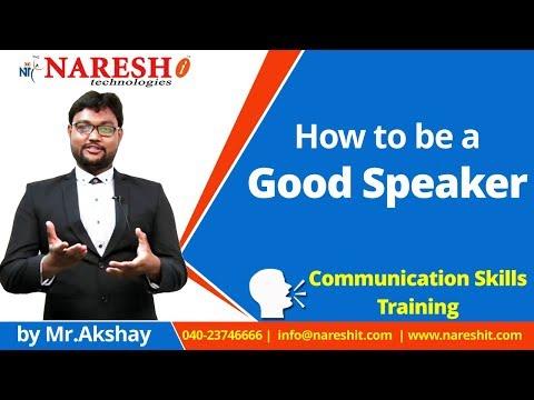 How to be a Good Speaker | English Communication Skills Tutorial | Mr. Akshay