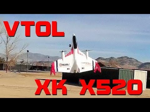 XK X520 Brushless VTOL Vertical Takeoff RC Airplane Flight Test Review