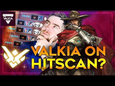 Valkia on Hitscan?! High IQ D.VA Bomb Dodge + Domination | Overwatch thumbnail