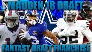 Madden 18 Fantasy Franchise! The Fantasy Draft With Bengal! Nfl Restart Draft!