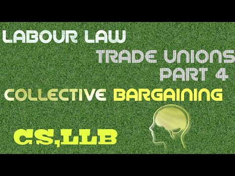 Trade Union|| Part 4 || Collective bargaining|| Congress|| Trade Dispute|| CS ,LLB|| INDUSTRIAL LAW|