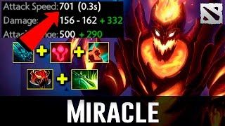 Miracle SF Crazy Attack Speed Dota 2