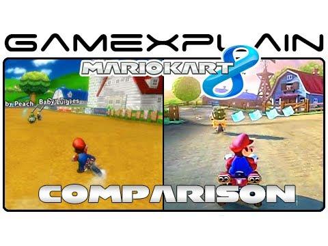Mario Kart 8 Moo Moo Meadows Head To Head Comparison Wii U Vs
