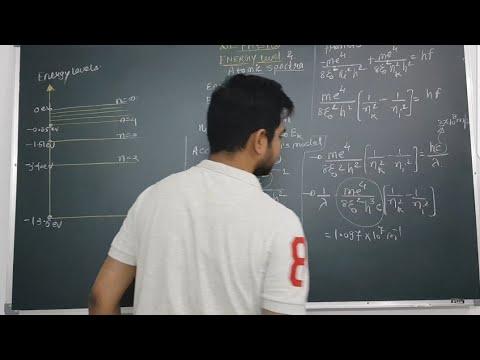 3.Energy level |  line spectra of hydrogen atom | class 12 physics