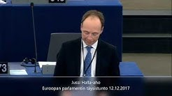 Halla-aho, Eurooppaan pyrkivät