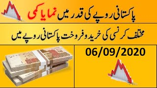 Today's Open Market Currency Rates in Pakistan |PKR Exchange Rate| 6th September 2020