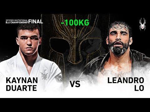 2019 SPYDER INVITATIONAL BJJ CHAMPIONSHIP FINAL -100kg Quarter Final : K.Duarte Vs L.Lo(Full)