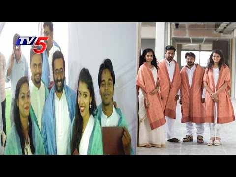IIT Hyderabad Students say no to Convocation Gowns, Wear Pochampalli Capes   Telugu News   TV5 News