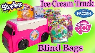 Surprise Ice Cream Truck Blind Bags Shopkins Season 3 Funko Disney Frozen Mystery Minis MLP Video