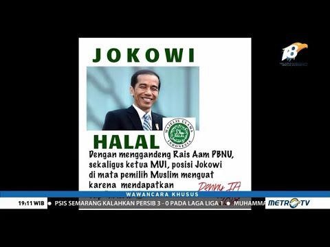 Ma'ruf Amin Mengaku Jokowi Sudah Halal Sejak Dulu