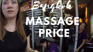 thai massage bangkok price